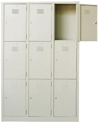 9 Compartments Metal Locker