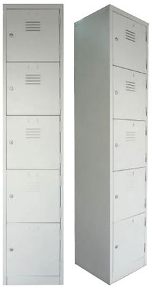 5 Compartments Metal Locker