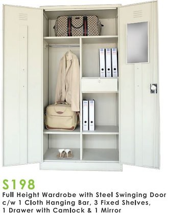 Full Height Swing Door Wardrobe