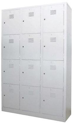 12 Compartments Metal Locker