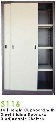 Full Height Steel Sliding Door Cupboard