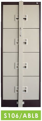 4 Drawers Locking Bar Filing Cabinet