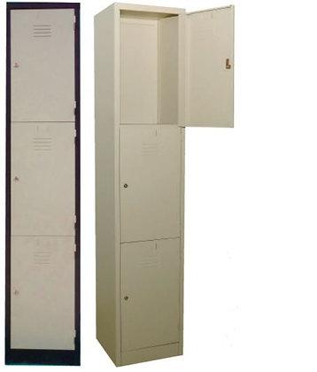 3 Compartments Metal Locker