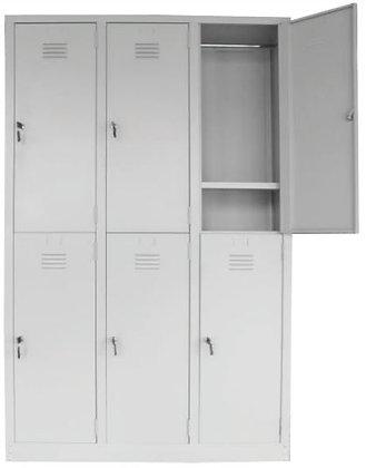 6 Compartments Metal Locker