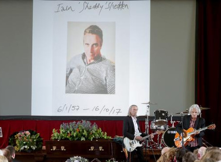 Iain Shedden celebrated at moving service