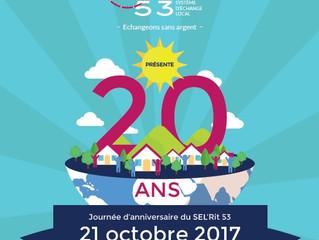 Rencontrez, échangez, partagez ... Le SEL de Laval fête ses 20 ans.