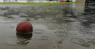 wet cricket ball