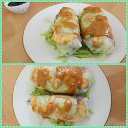 Vegan shrimp wrap