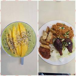 Green smoothie & Vegan BBQ