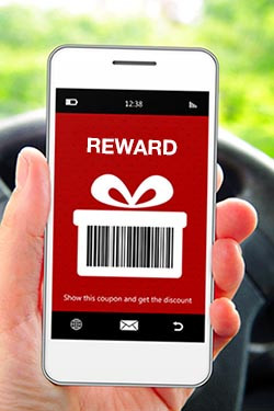 mobile rewards coupon gamification