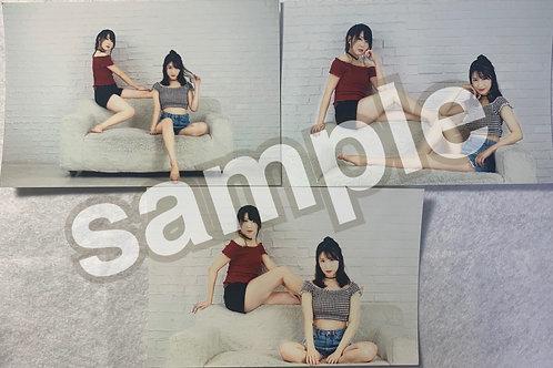 小原春香✖中田ちさと 生写真パターンB 3枚セット