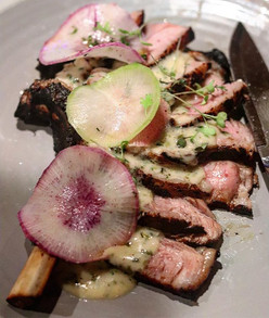 grilled veal chop brined in whey and smo