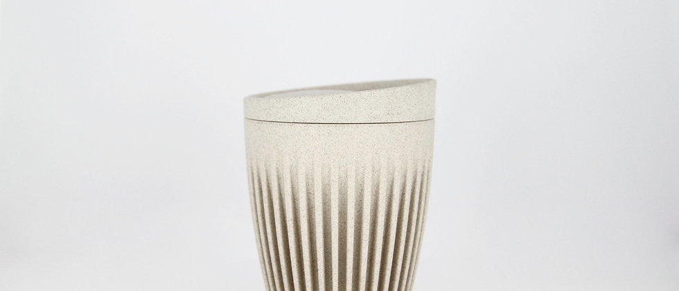 8oz Natural HuskeeCup with Lid