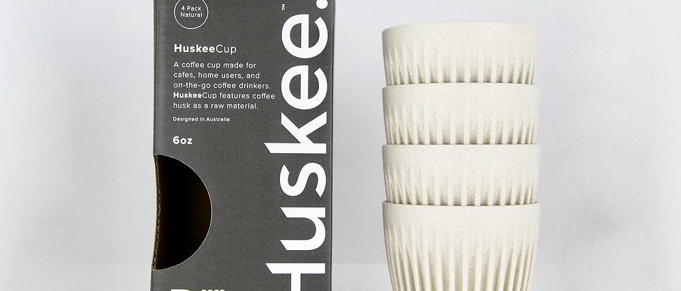 6oz Natural HuskeeCup (4-pack)