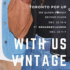 WITH US VINTAGE POP UP PROMO POSTER