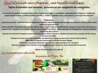 Recette diététique avec les paniers de Marie Thé