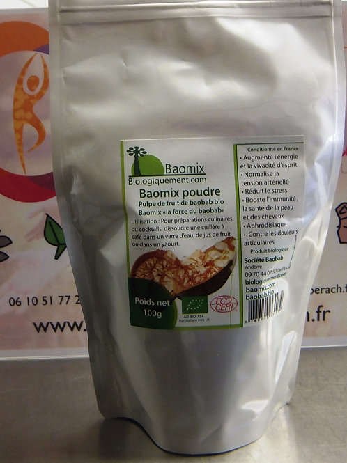Poudre de fruit Baobab bio Baomix