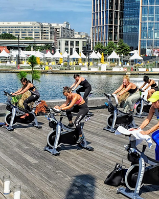 Hustle at The Wharf_ Outdoor Spin & Fitn