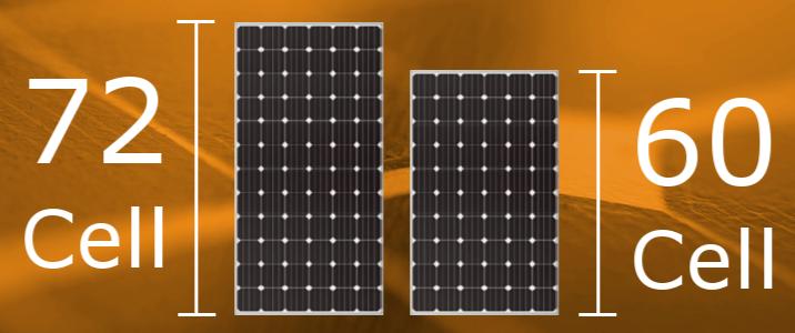 60cell vs 72 cell solar module