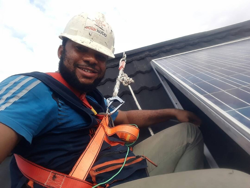 A SOLARKOBO ENGINEER AT WORK