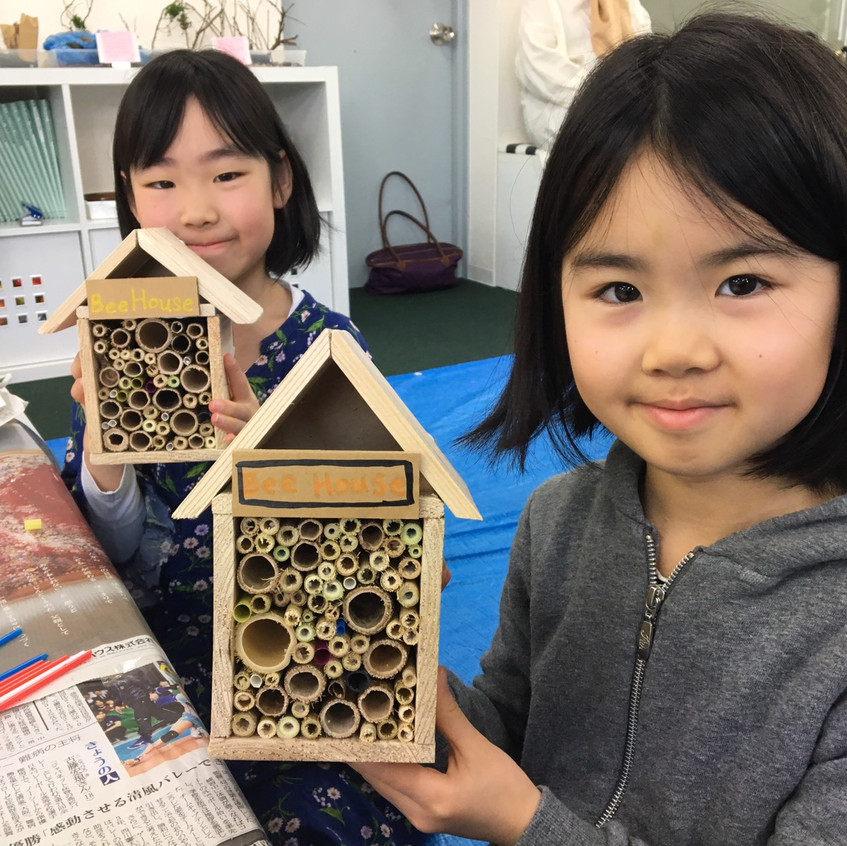 Check out our bee houses!