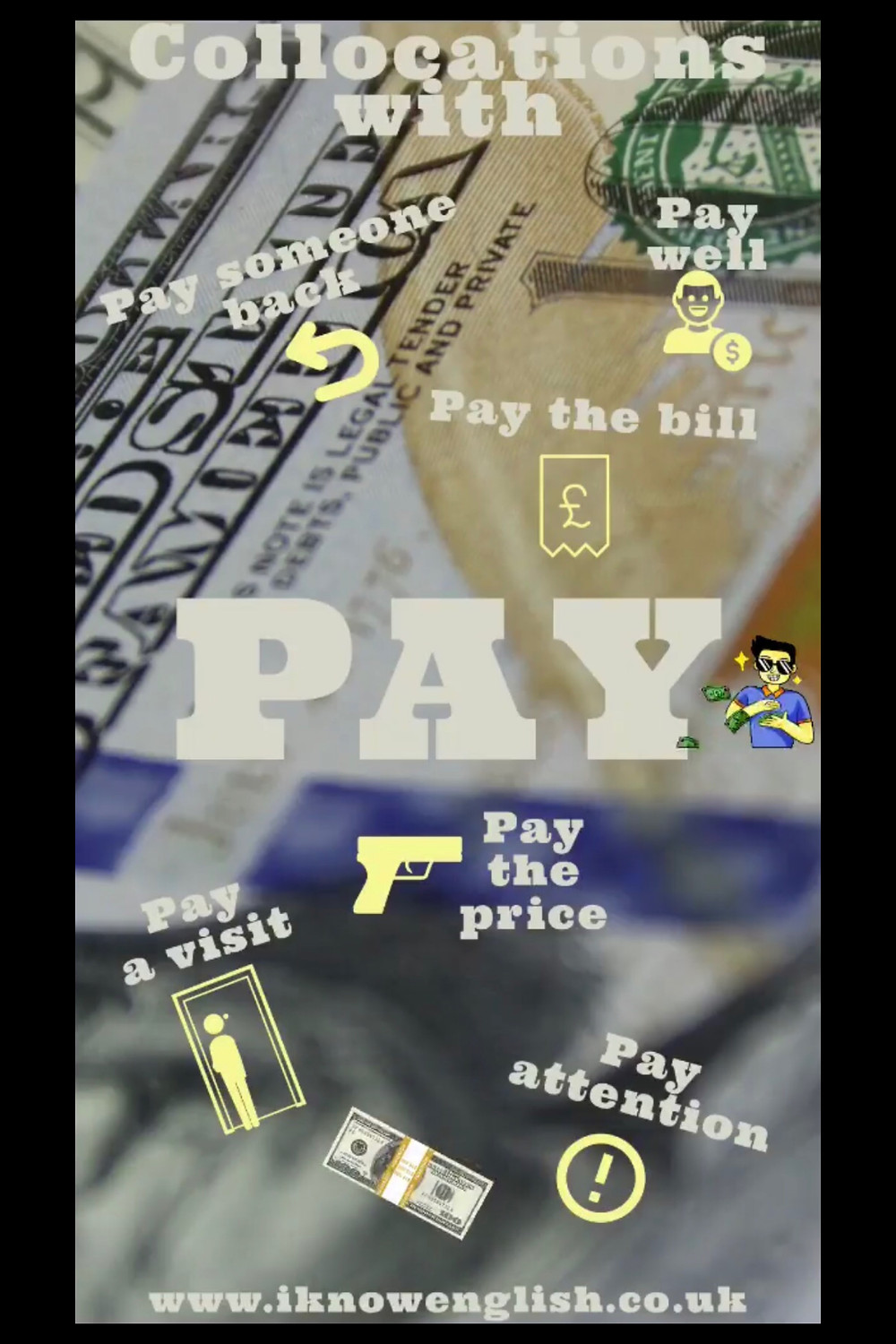 Collocations with the word pay