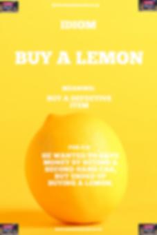 English Idiom buy a lemon.PNG