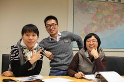 Maple, Andy and Jang at Samsung