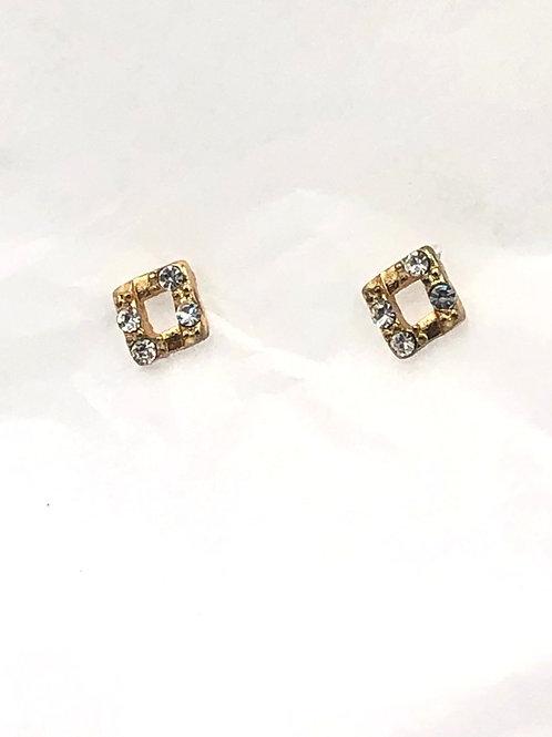 Dansk: 14K Gold and Swarovski Crystal over Copper Earrings