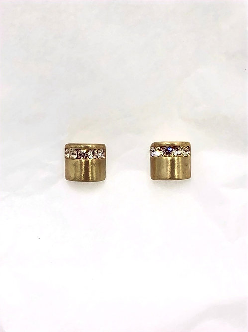 Dansk: 14K Gold and Swarovski Crystal over Copper Earrings