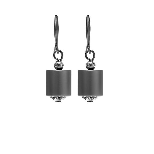 Dansk: Hematite over Copper Drop Earrings
