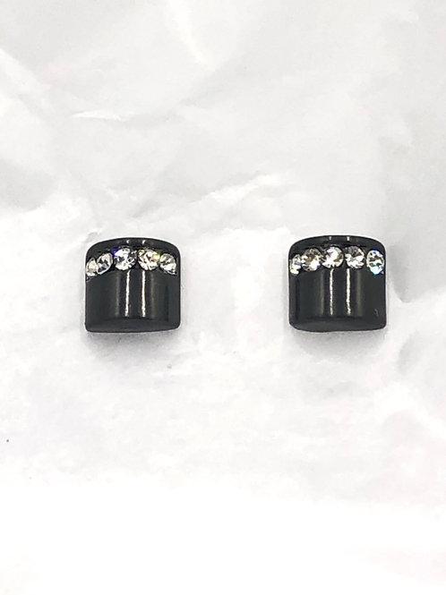 Dansk: Hematite and Swarovski Crystals over Copper Earrings