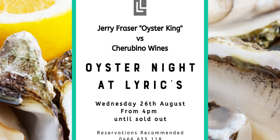 *FULLY BOOKED* Oyster Night at Lyric Lane