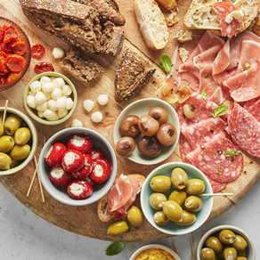 Antipasti Heaven with Silver & Green