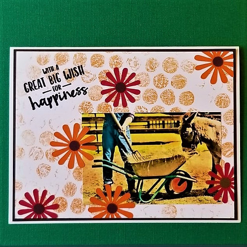 "WHEELBARROW WISHES - ""Donkey"" 5-pack"