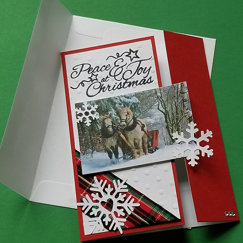 """CLICK TO ORDER 5-Card Pack of """"Sleigh Ride"""""""