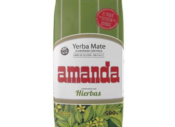 Yerba Mate Amanda Con Hierbas 500gr