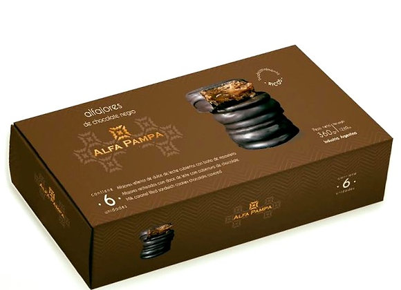 Alfajores Alfa Pampa - Milk Chocolate (x6)