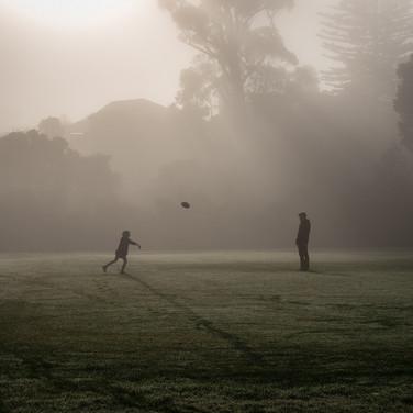 Practice in the mist (c) Chris Moselen