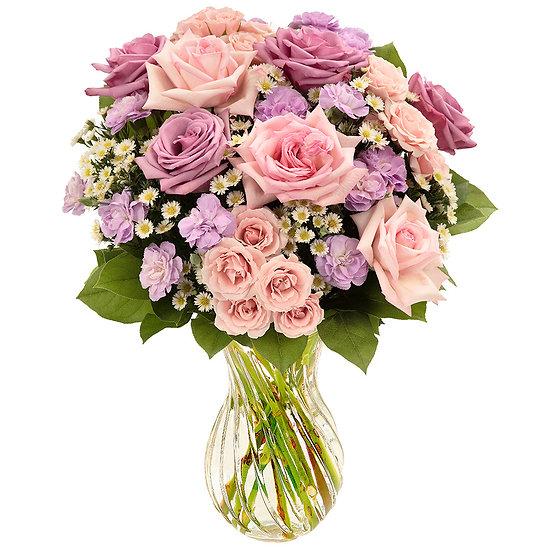 Multicolor Pastel Rose Bouquet