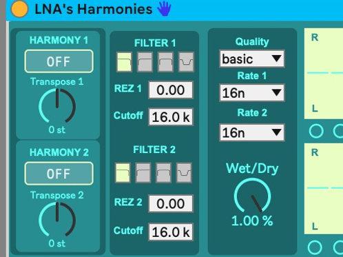 LNA's Harmonies - Max4Live Device