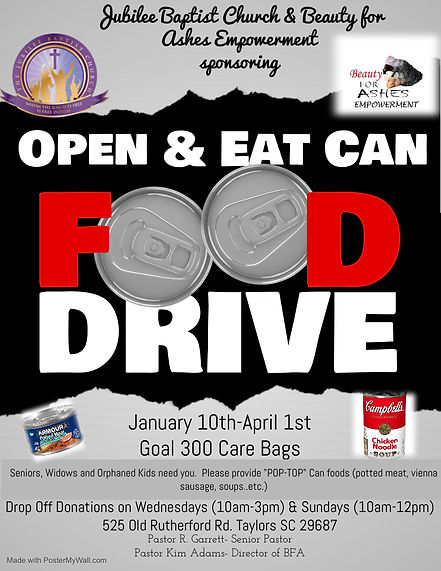 Copy of Canned Food Drive Flyer - Made w