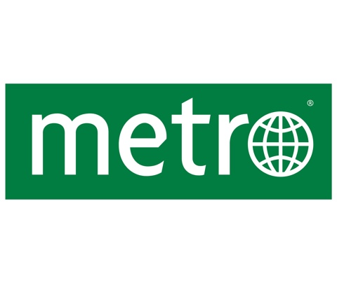 Logo krant Metro