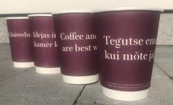 Luminor Baltikum reklaamiga kohvitopsid