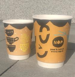 Nop reklaamiga kohvitopsid