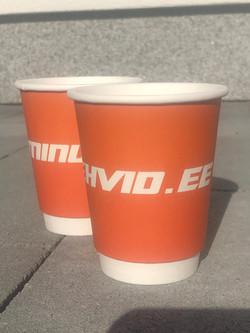 Minurehvid.ee reklaamiga kohvitopsid