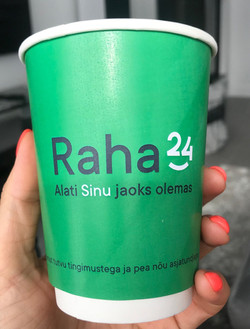 Raha24 reklaamiga kohvitops