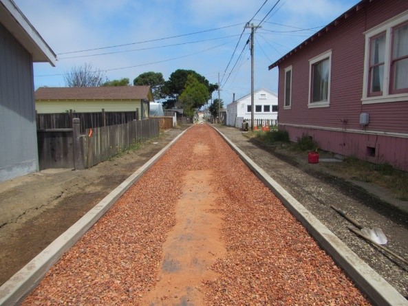Fort Bragg Green Alley Project  During C