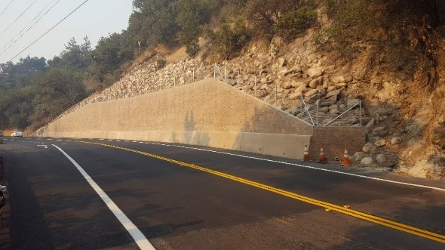 Completed retaining wall and repair project