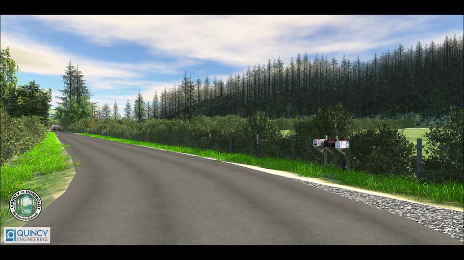 Video simulation of driving eastbound over the proposed Holmes-Larabee Bridge